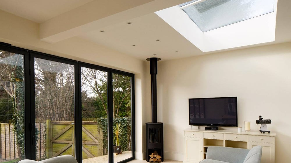 Skylight and rooflight for living rooms and working spaces