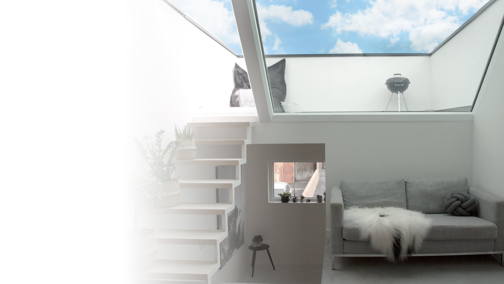 Rooflight in Passive House, London